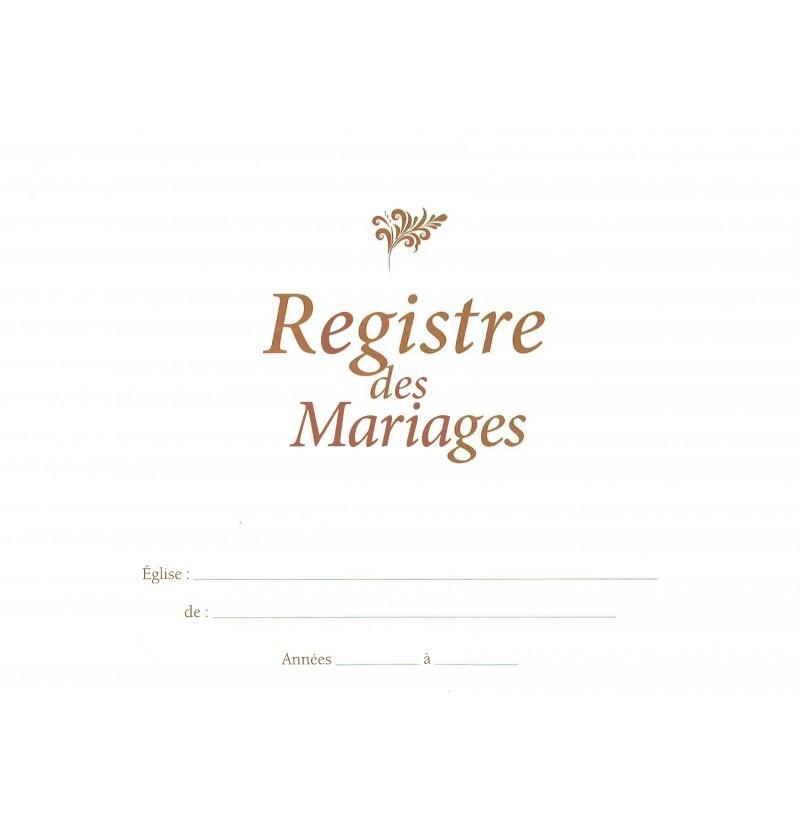 Registre de mariage