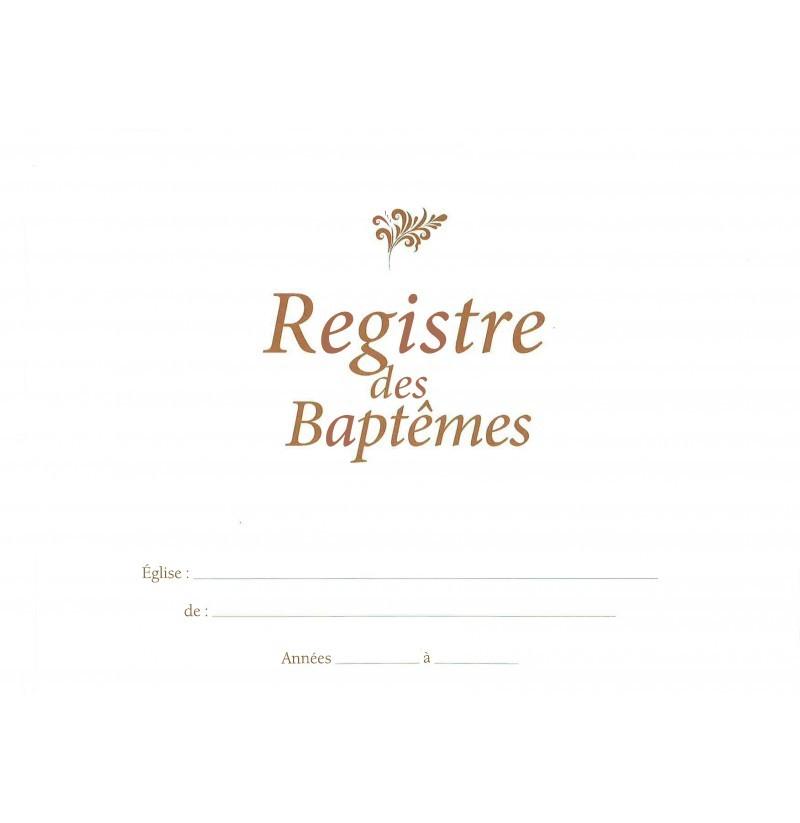 registre des baptêmes