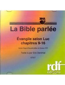 CD Evangile selon Luc chapitres 9 à 16