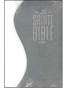 Bible Louis Segond 1910 duo gris blanc avec fermture éclair ESA546