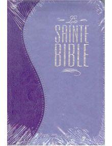 Bible Louis Segond 1910 duo parme fermeture éclair ESA430