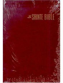 Bible Louis Segond 1910 grand format bordeaux ESA538