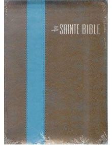 Bible Louis Segond 1910 Grand format Duo Bronze Bleu Turquoise fermeture éclair ESA636