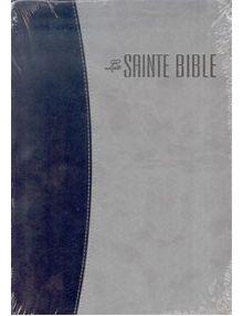 Bible Louis Segond 1910 grand format duo gris bleu ESA511