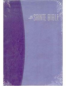 Bible Louis Segond 1910 grand format duo violet ESA503