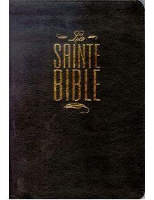 Bible Louis Segond 1910 noire fermeture éclair ESA422