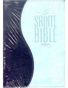 Bible Louis Segond 1910 similicuir duo bleu clair et bleu nuit ESA309