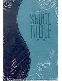 Bible Louis Segond 1910 similicuir duo turquoise et bleu nuit ESA295