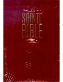 Bible Louis Segond 1910 similicuir grenat onglets et fermeture éclair ESA376