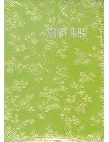 Bible Louis Segond 1910 vert relief fleurs ESA457