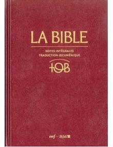 Bible TOB édition intégrale cuir