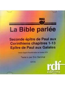 CD 2ème Epître aux Corinthiens et Galates