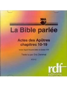 CD Actes des Apôtres chapitres 10 à 19