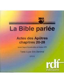 CD Actes des Apôtres chapitres 20 à 28